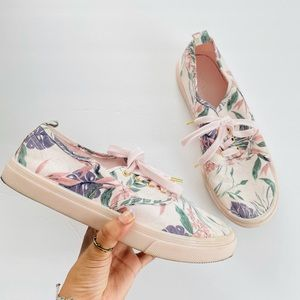 h & M floral pink shoes size 8